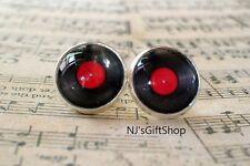 Music Vinyl Record Stud Earrings,Gift idea for her