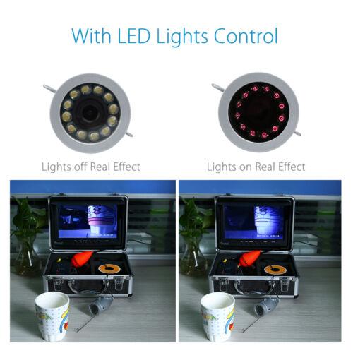 30m 9 inch 1000TVL LCD IR Underwater Video Camera 8GB Fish Finder DVR Waterproof