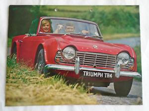 Triumph Tr4 Range Brochure Sep 1963 Ref 338 963 Uk Ebay