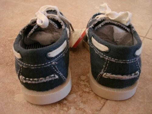 NEW BABY BOYS OSHKOSH B/'GOSH BOAT SHOES SLIP ON BLUE ALEX-B-13 SIZE 9
