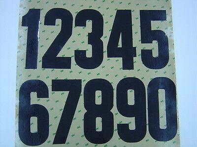 "Motocross Numbers 7/"" inch Black 0 1 2 3 4 5 6 7 8 9 Vintage MX AHRMA Free Ship"