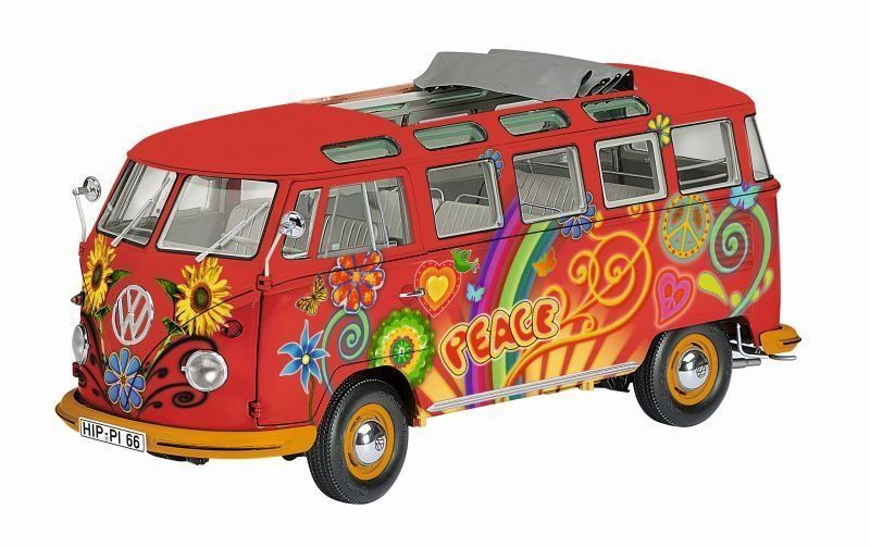 VW T1 Samba-Hippie (La Paz) 1 18 Schuco