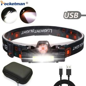50000LM-LED-Headlamp-Headlight-XPE-COB-USB-Rechargeable-Head-Torch-Camping-Lamp