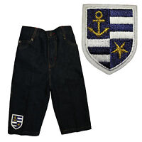 Coat Of Arms Anchors Star Greek Badge Infant Baby Boy Toddler Jeans Sz: S M L Xl