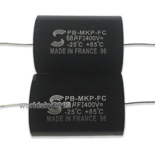 2pcs 400V 68uF MKP Speaker Frequency Divider Crossover Non-Polarity Capacitor