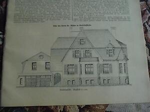 1912 Baugewerkszeitung 94/grand Lafferde Maison Müller Ilsede-ung 94 / Groß Lafferde Haus Müller Ilsede Fr-fr Afficher Le Titre D'origine Avec Les éQuipements Et Les Techniques Les Plus Modernes