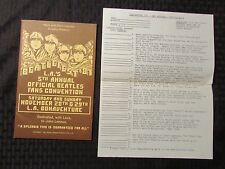 1981 BEATLEFEST Beatles Program Catalog & Trivia Quiz VF+ Los Angeles