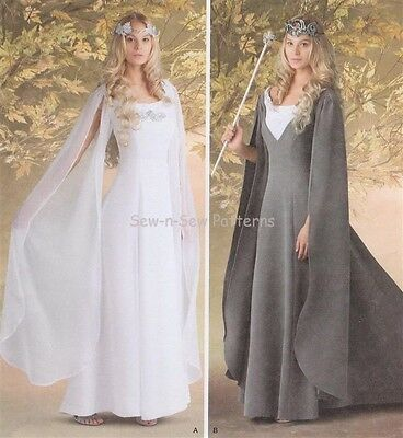 Simplicity 1551 SEWING PATTERN 8-14  LOTR Dress/Gown Medieval Galadriel Costume