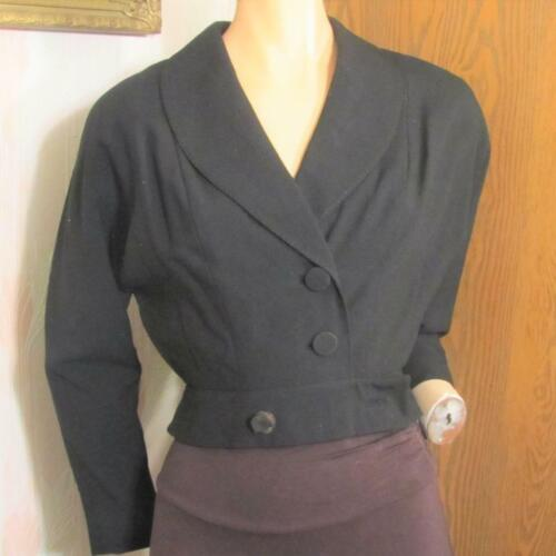40S TAILORED BY MONDROW BLACK CROP FITTED JACKET S