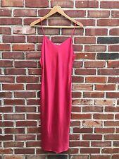 Donna Karan New York Intimates Red Silk Slip Nightgown Dress S Small RARE!