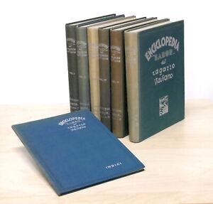 Enciclopedia-Labor-del-ragazzo-italiano-6-volumi-Indici-1-ed-1938-1940