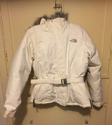 The North Face Goose Down Belted Hooded Ski Jacket Womens M