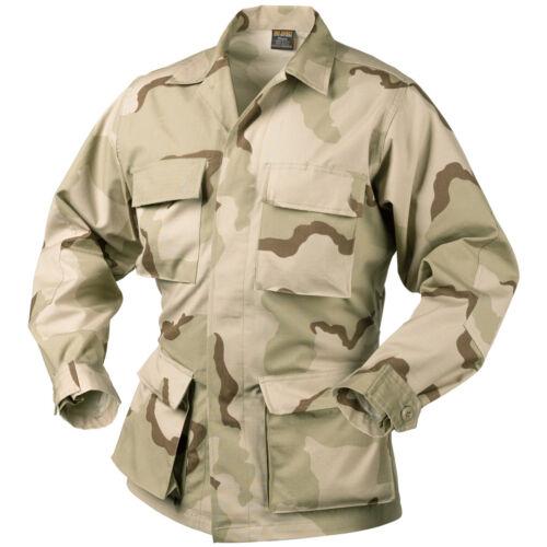 HELIKON GENUINE BDU TACTICAL COMBAT MENS SHIRT ARMY JACKET 3-COLOUR DESERT CAMO