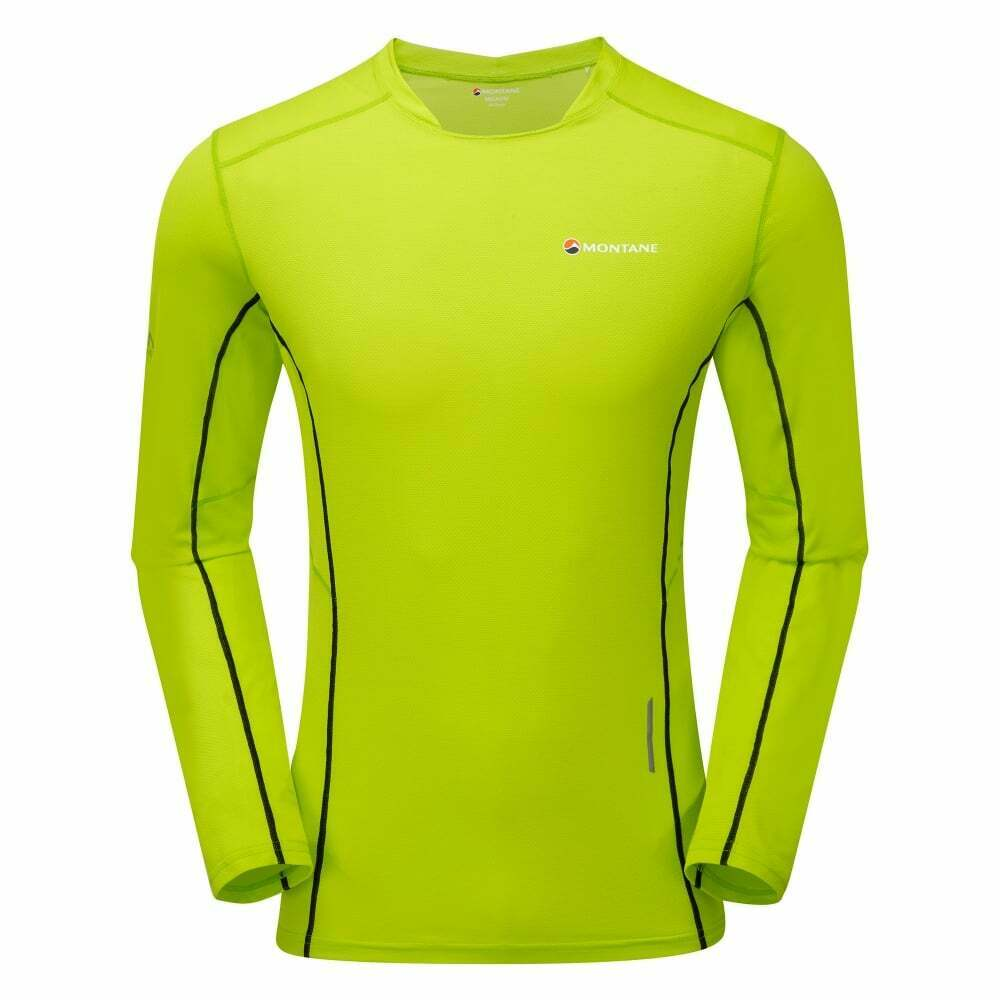 Montane Razor Long Sleeve T-Shirt - Men's - Laser Green - XL - Fast Shipping