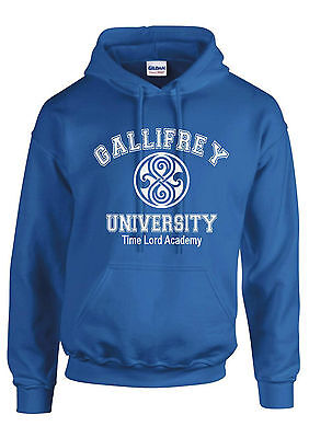 UNIVERSITY OF GALLIFREY HOODIE DOCTOR WHO FUNNY GIFT NEW HOODED JUMPER