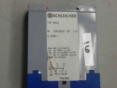 #16 Schleicher Type KS12 Nr 15410618 767 114 230V Relay