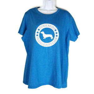 Teespring-2XL-Mens-Blue-Tee-Shirt-Short-Sleeves-Doxie-Mom-Wigglebutt-Club
