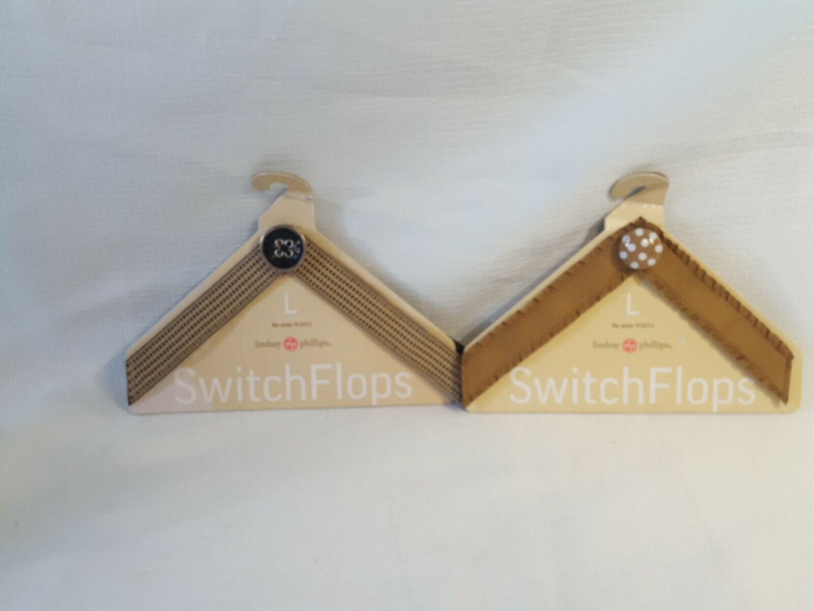 2-Switch Flops by Lindsay Phillips Large Interchangeable Straps Fits 9/10/11