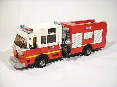 ONLY PDF INSTRUCTIONS! LEGO Custom Modular Building American Fire Truck