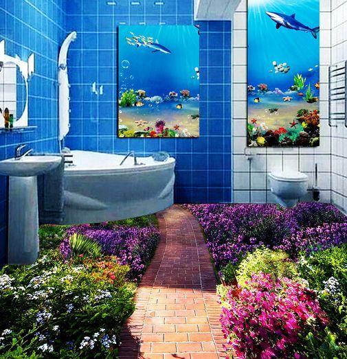 3D Flower Nursery Path Floor WallPaper Murals Wall Print Decal 5D AJ WALLPAPER