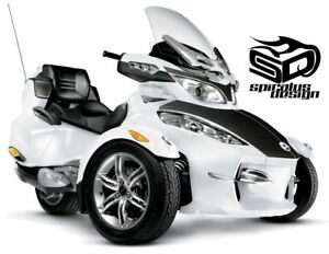 Can-Am-Spyder-RT-RTS-RT-LTD-graphic-wrap-decal-kit-034-Carbon-Fiber-034-HOOD-ONLY