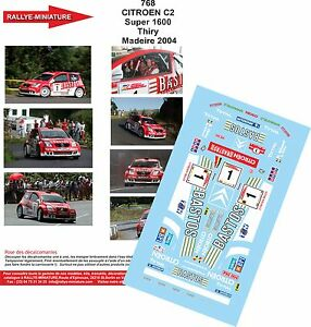 DECALS 1//24 REF 295 CITROEN XSARA KIT CAR BRUNO THIRY YPRES RALLY 2000 RALLYE