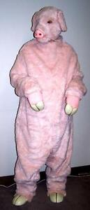 PIG-COSTUME-Adult-Full-Body-Suit-Mask-Gloves-Hooves-HOG-OUTFIT-dressup-pigs-NEW