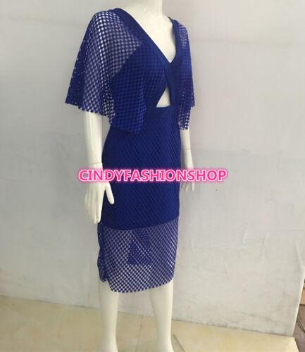 New Elegant  Women V-Neck  bodycon lace Cocktail bandage  Dress clubwear Dress