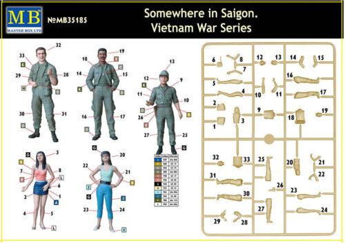 MASTER BOX 35185  1//35 SCALE  MODEL SOMEWHERE IN SAIGON VIETNAM WAR SERIES DE