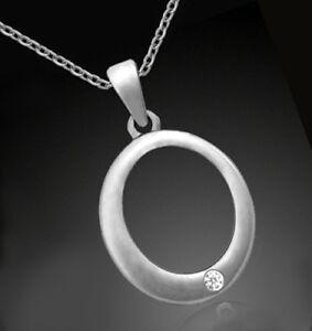 925-ECHT-SILBER-RHODINIERT-Anhaenger-oval-28-mm-mit-Diamant-Kette-optional