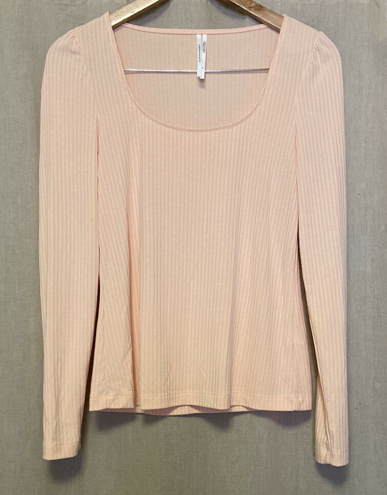 Anthropologie Size Small Peach Ribbed Long Sleeve… - image 12