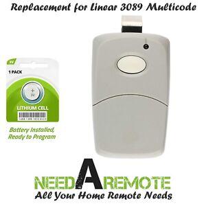 Multi-Code Linéaire 3089 2-Pack 3089 Gate Opener Remote livraison gratuite