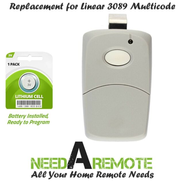 3089 multi-code multicode 3060 Linear MCS308911 300mhz 1 button remote 2 Pak