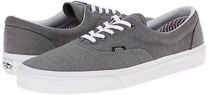 eb33785bfcafa1 Vans Era Suiting STRIPES CHARCOAL True White Men s Classic Skate ...