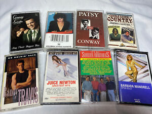 🔥Lot 8 Classic Country Cassette Tapes~Twitty~Roseanne Cash~Patsy Cline 80s/90s