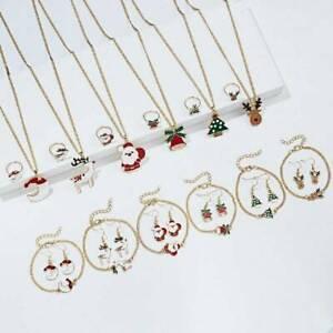 Fashion-Christmas-Festival-Jewelry-Necklace-Earrings-Ring-Bracelet-Set-Xmas-Gift