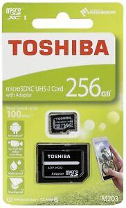256GB-Micro-sd-sdxc-Speicherkarte-fur-Samsung-Galaxy-S7-S8-S9-Full-HD-100-MB-s