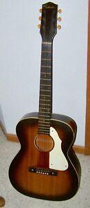 Années 1960 Silvertone Guitare Acoustique-afficher Le Titre D'origine Performance Fiable