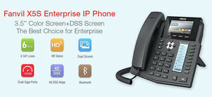 Fanvil X5S 6 Line Color VoIP SIP Phone Blutooth EHS Headset perfect for 3cx