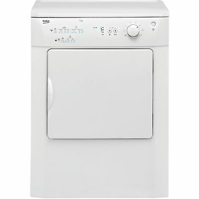 Beko DRVT71W 7Kg Vented Dryer with Reverse Action in White New