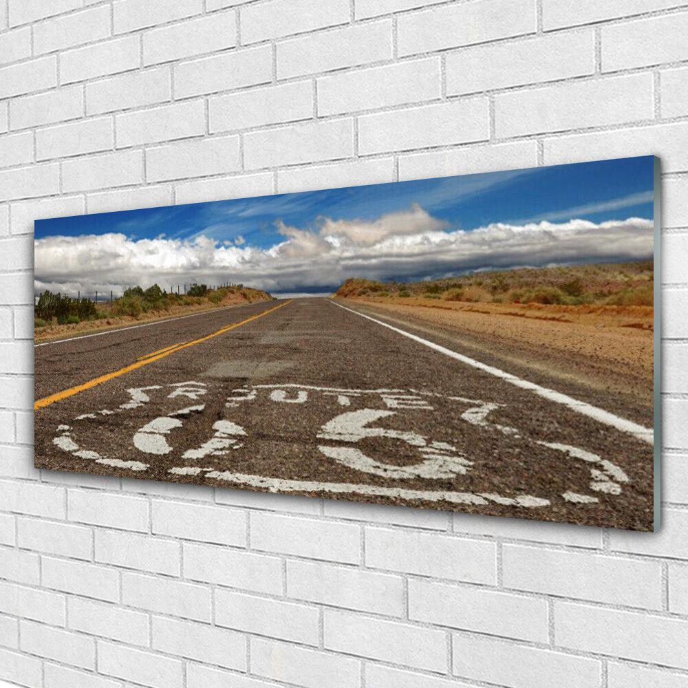 Impression sur verre Image tableaux 125x50 Paysage Rue