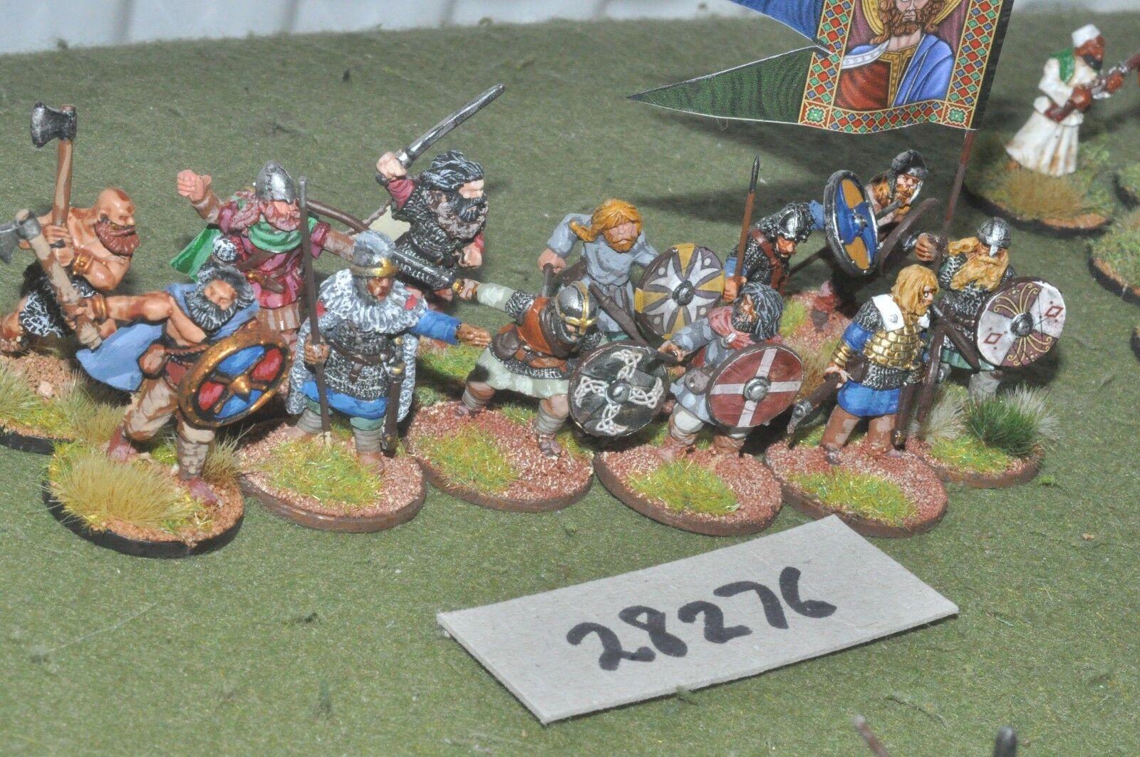 25mm dark ages   viking - warriors 12 figures - inf (28276)