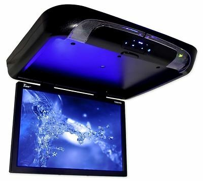 "New Tview T20DVFD-BLACK 20"" Flip Down Ceiling Car Monitor w/ Built In DVD Player"