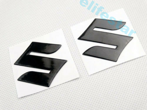 4cm Mini Black 3D Fuel Gas Tank Fairing Body Emblem Decal Stickers For SUZUKI