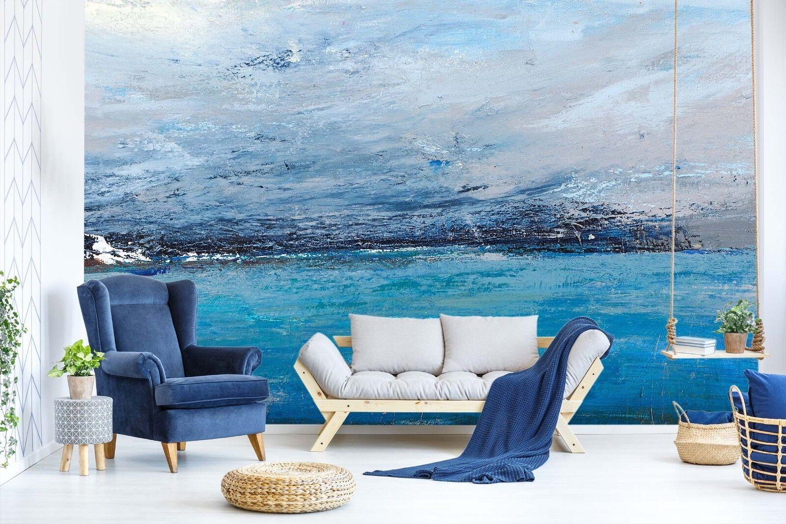 3D Blau Sea Painting 988 Wallpaper Mural Paper Wall Print Murals UK Lemon