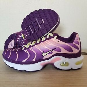 los angeles 7d717 412e2 Details about Nike Air Max Plus TN Pink Citron Purple Girls Luck Charm GS  Size 5Y (AV7962-600)