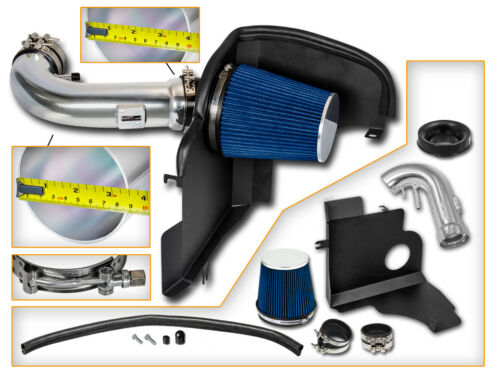 Filter BCP BLUE 11-14 Ford Mustang GT 5.0 V8 Cold Shield Air Intake Kit
