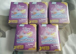LOT-OF-5-DISNEY-HAPPY-PLACES-BLIND-BOXES-EACH-CONTAINS-3-HOME-DECORS-amp-1-TILE-NEW