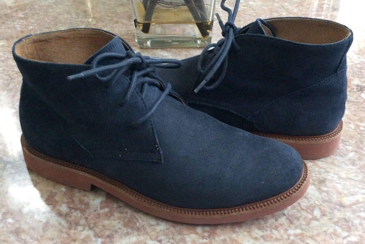 Polo Torington C NT Men's Navy bluee Suede Leather Dress shoes Size 9 D MSRP