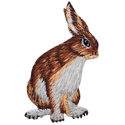 RABBIT Cute Critters FOREST ANIMAL Iron On Embroidered Applique//Bunny